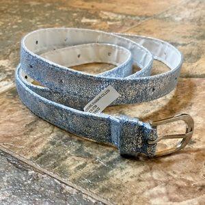 Accessories - NWOT Blue & Silver Belt XXS-XL